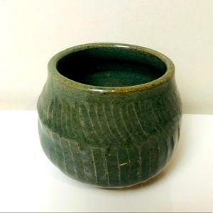Small Forest Green Vintage Pottery
